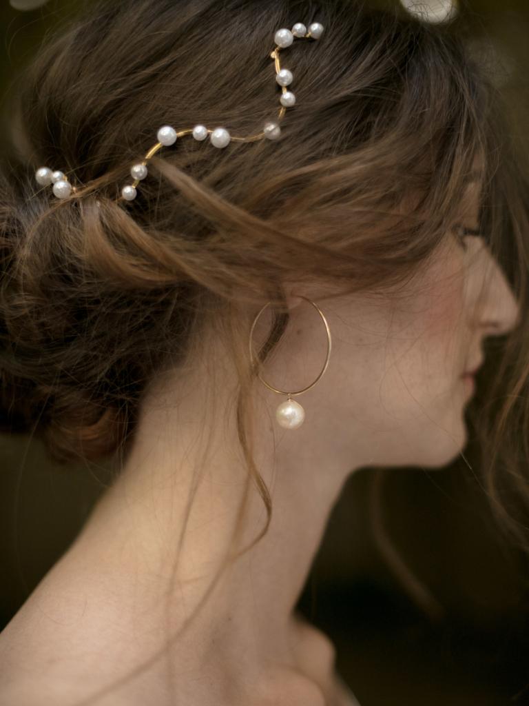 image Grandes créoles perles