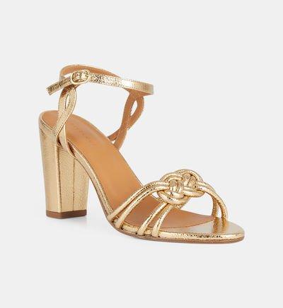 image La sandale tressée Gold