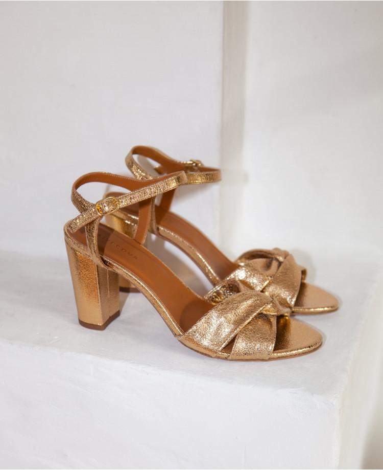 image La sandale 440 drapée Gold